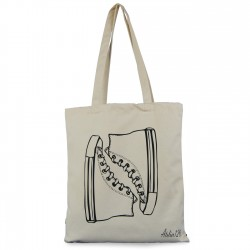 Tote bag coton impression basket converse
