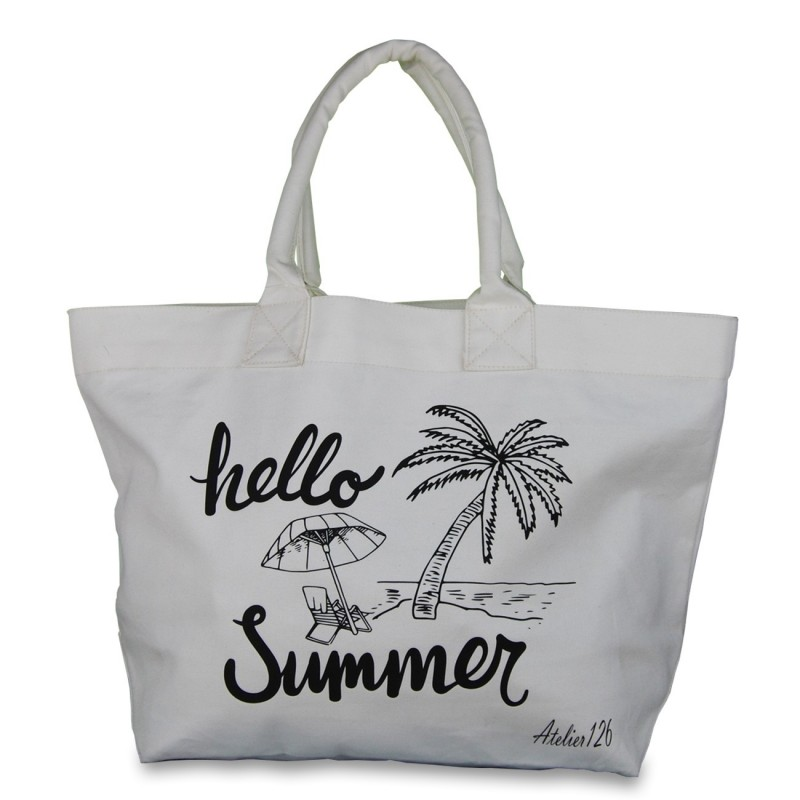 Grand sac coton imprimé summer
