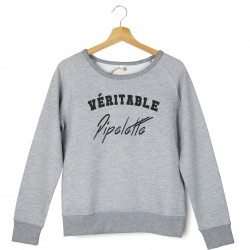 Sweatshirt brodé véritable pipelette