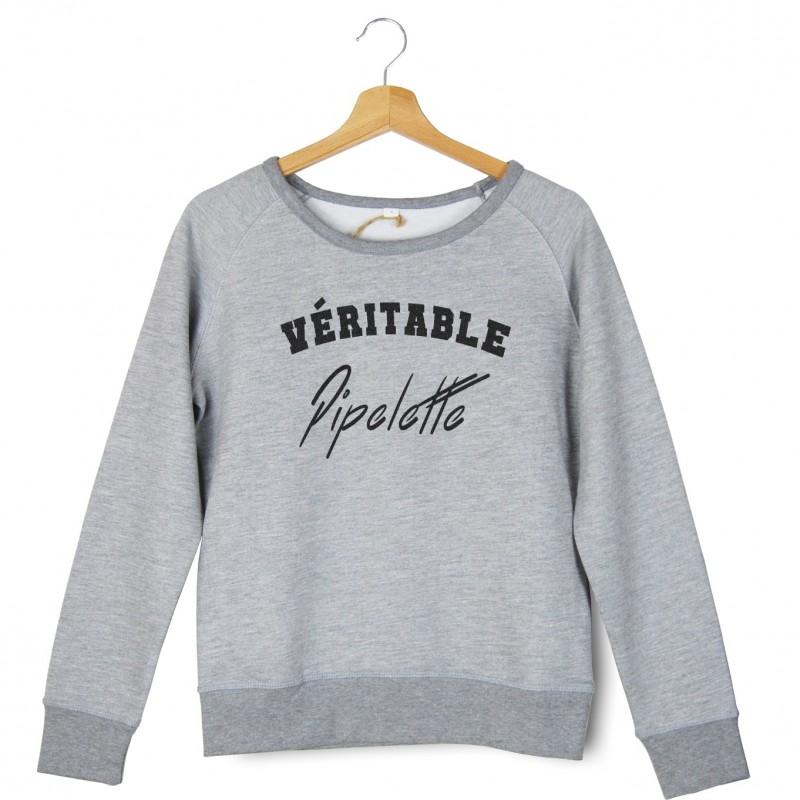 Sweatshirt brodé véritable pipelette
