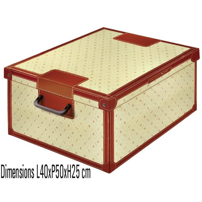 boite rangement décorative carton avec couvercle, décor giglio