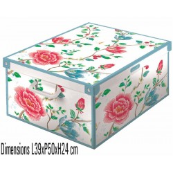 boite rangement décorative carton, décor floral