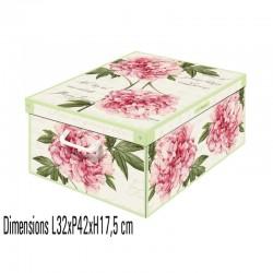 boite de rangement décorative en carton avec couvercle