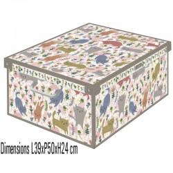 boite de rangement carton recyclé décorative pliable