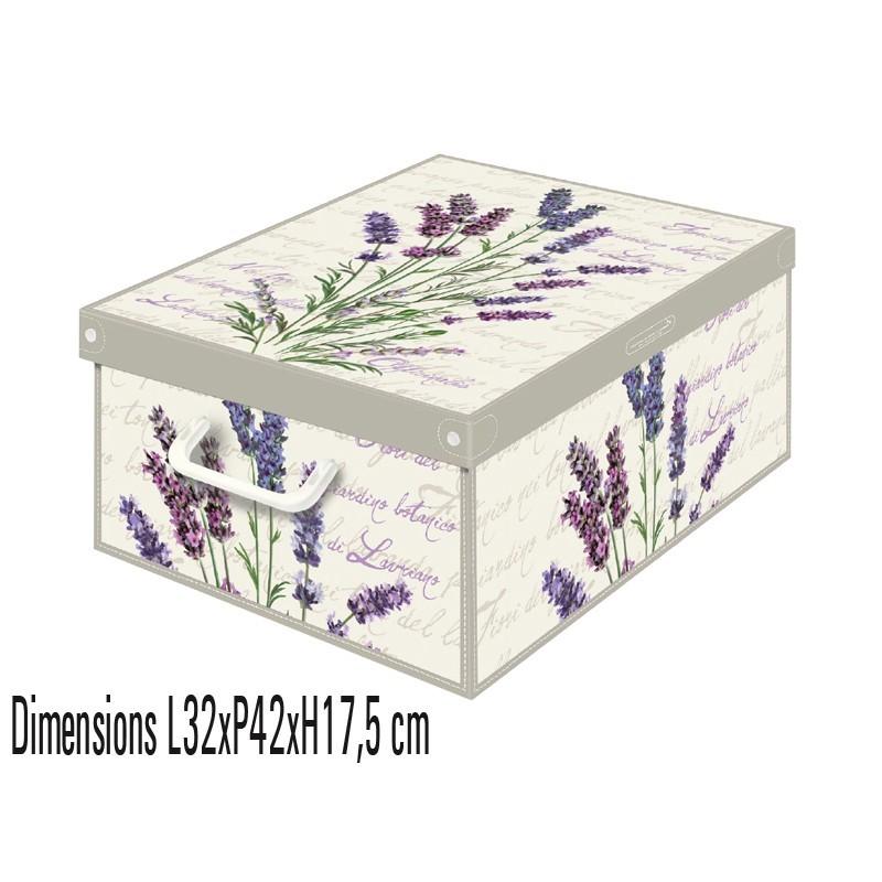 boite de rangement carton parfumée collection floral décor lavande