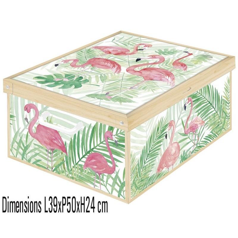 Boite de rangement en carton écologique décorée