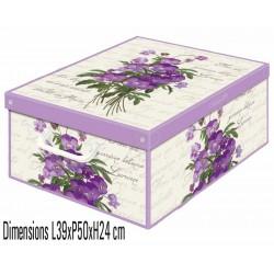Boite de rangement carton recyclé parfumée violette