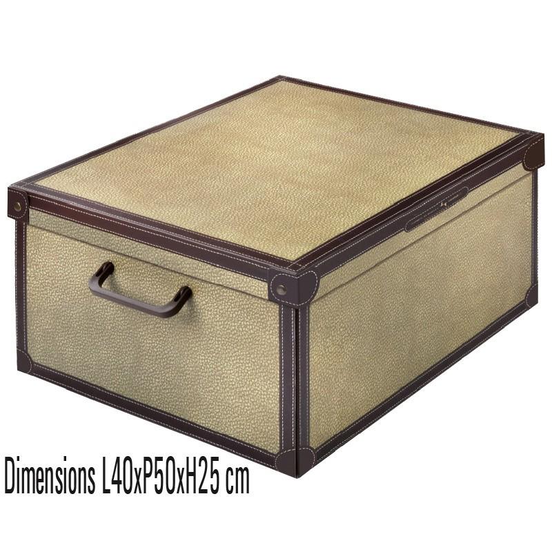 boite rangement décorative carton, décor tapirus