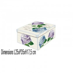 boite de rangement carton décorative décor hortensia