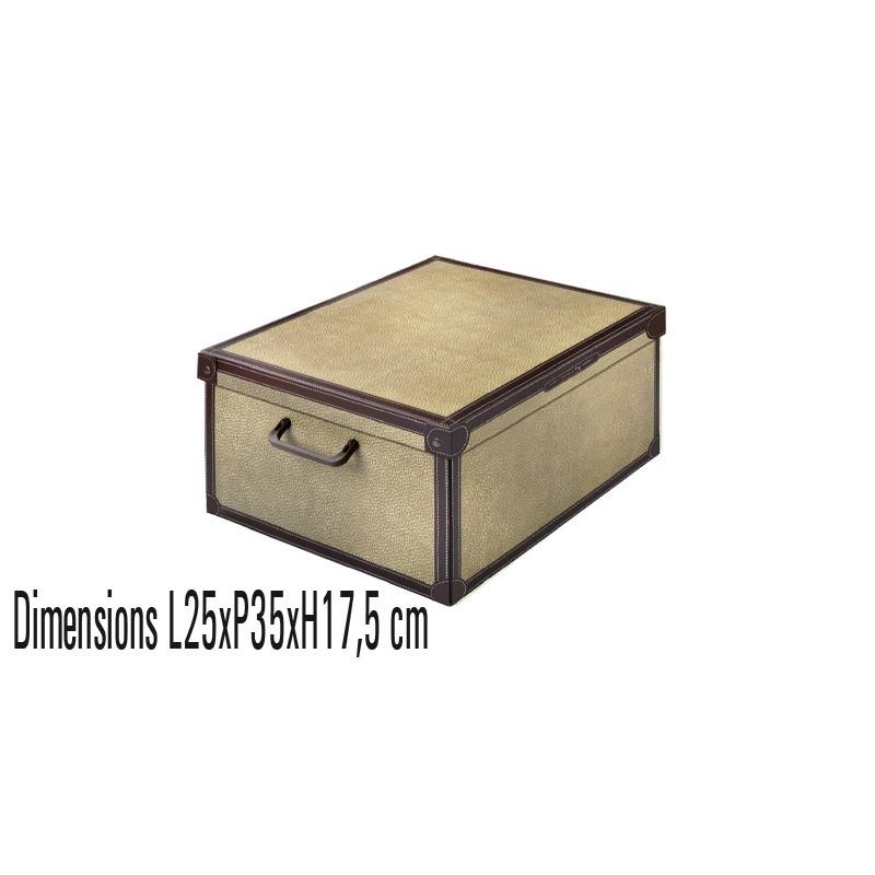 boite de rangement carton décorative 25x35x17,5 décor Tapirus