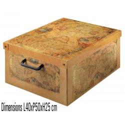 boite rangement décorative carton, décor Marco Polo