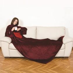 couverture avec manches couleur passion