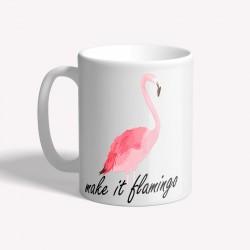 Mug céramique imprimé sublimation flamingos