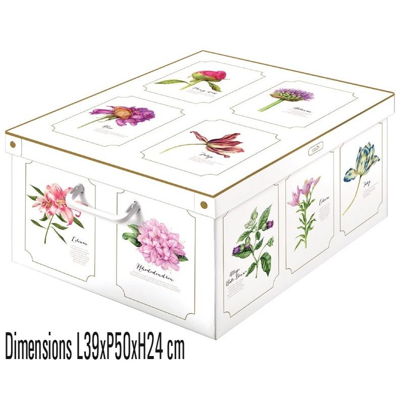 boite de rangement carton recyclé décorative Lavatelli 660 décor botanic