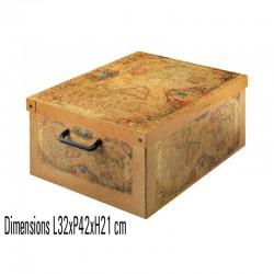 boite rangement décorative carton, décor Marco Polo format midi