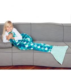 Plaid polyester siréne enfant