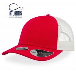 Casquette Atlantis recy three rouge blanc