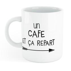 Mug céramique imprimé un café et ça repart