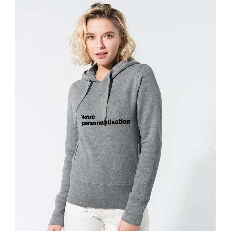 Sweatshirt capuche coton Bio a personnaliser