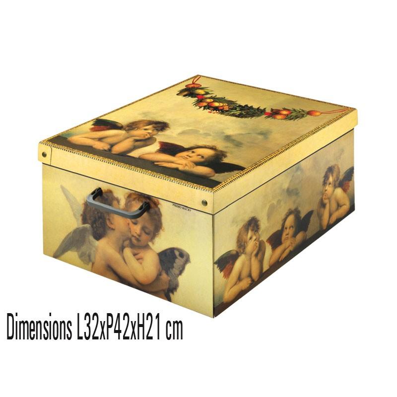 Boite de rangement carton Midi décor Amorini