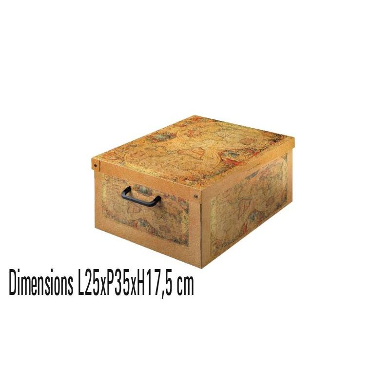 Boite de rangement carton small décor MARCOPOLO