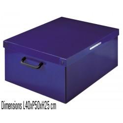 Boite de rangement carton Bleue