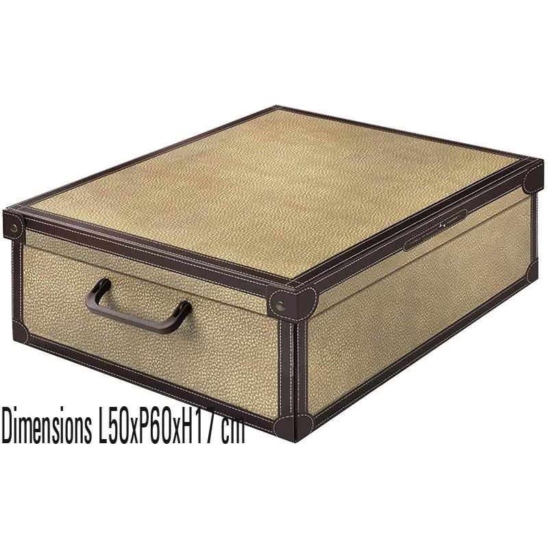 Boite de rangement carton décor Tapirus XL