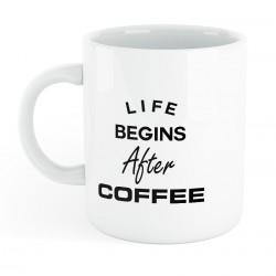 Mug céramique life begins after coffee
