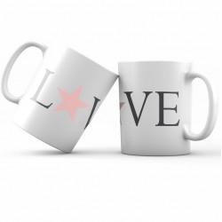 mug céramique blanche imprimé love