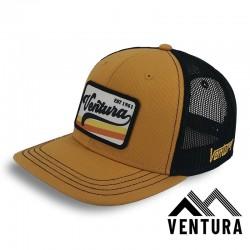 Casquette Trucker VENTURA RETRO mustard-noire