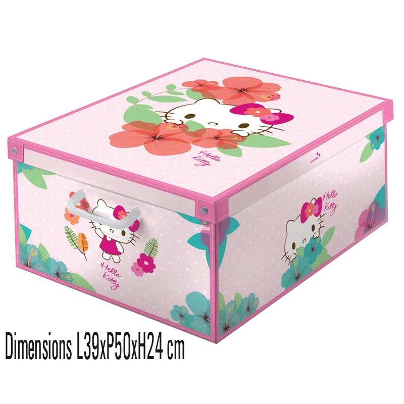 boite de rangement carton décor Hello Kitty