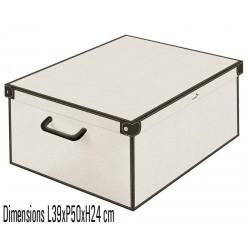 Boite de rangement carton décor musk white