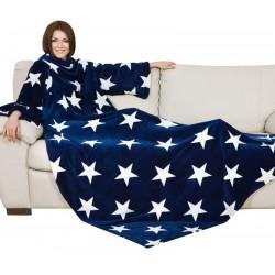Plaid à manches adulte en polyester avec motif Stars