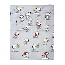 Plaid à manches Deluxe snoopy en polyester