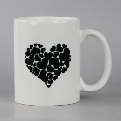 Mug céramique imprimé coeur