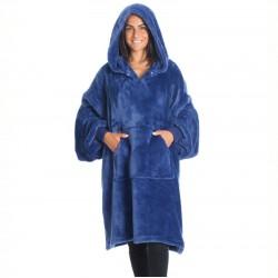 Sweat pull a capuche Kanguru en polyester bleu