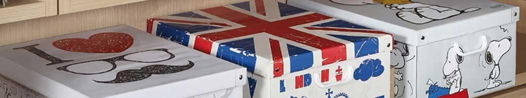 Boites de rangement carton pliables collection Trendy